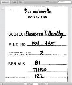 Elizabeth Bentley FBI File
