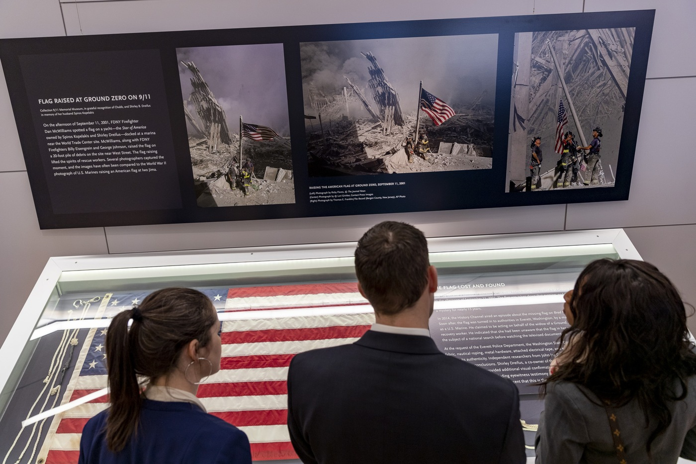 New special agents and intelligence analysts view an exhibit at the 9/11 Memorial & Museum in New York City on Saturday, March 9, 2019.