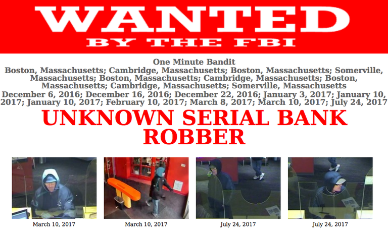 Image of bank robbers poster for One Minute Bandit.