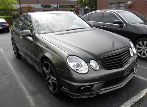 Law enforcement seized this 2008 Mercedes-Benz from Memphis luxury car salesman Michael Brown during the investigation into allegations that Brown was defrauding customers who ordered luxury cars through his company's website. Brown pled guilty in February 2015.