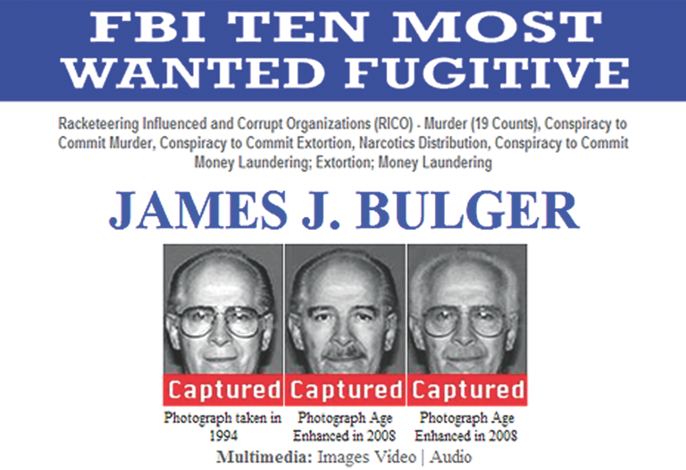 "Top Ten fugitive James ""Whitey"" Bulger was arrested with his longtime companion Catherine Greig on June 22, 2011 in Santa Monica, California, by agents on our Violent Crimes Task Force."