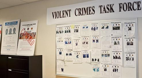 Bulletin Board of Wanted Posters