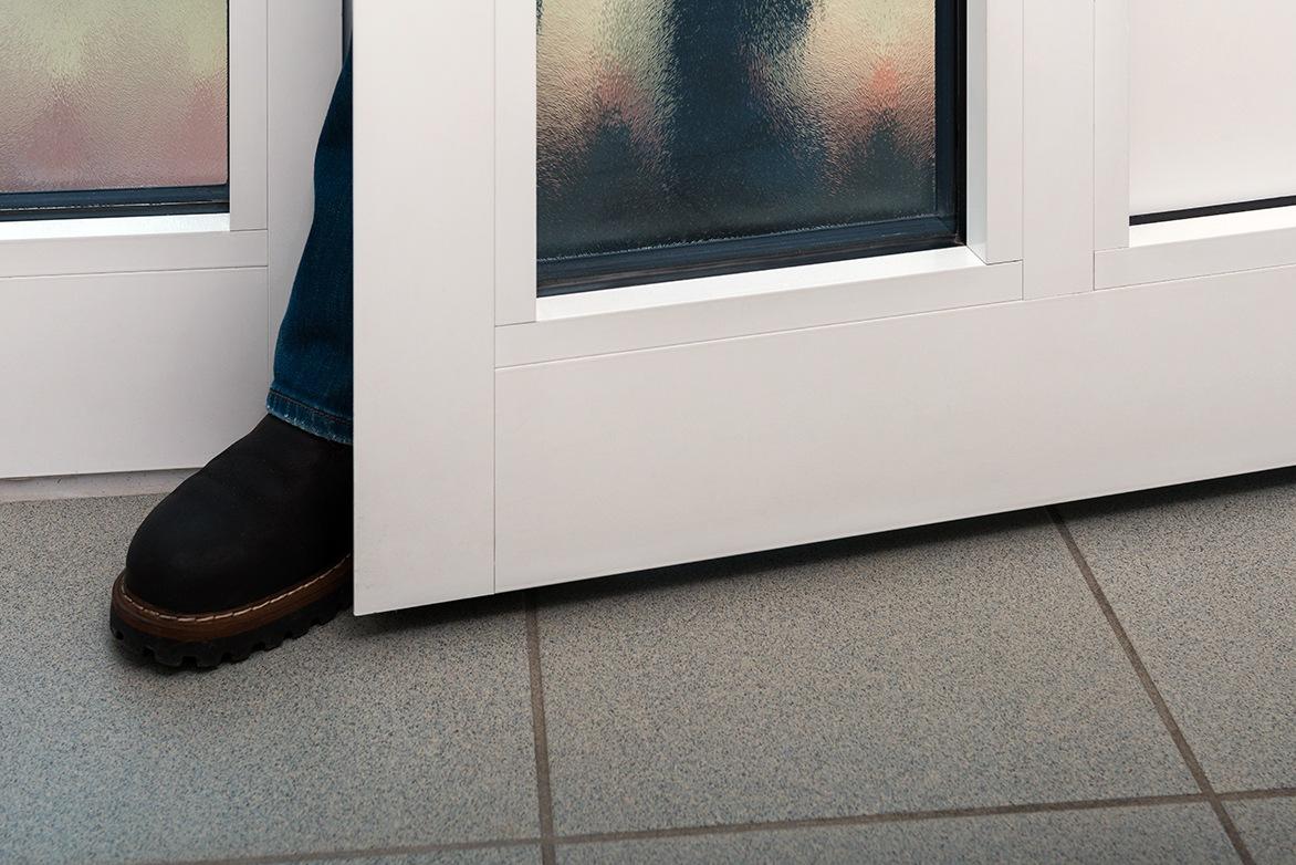 Burglar Entering Door (Stock Image)