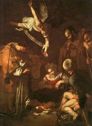 Caravaggio, Nativity with San Lorenzo and San Francesco
