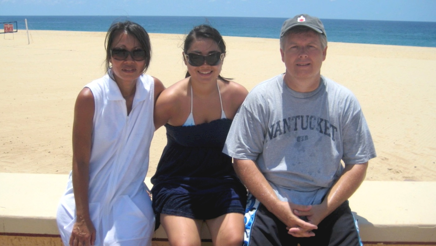 Casey Doolin and Parents at Beach