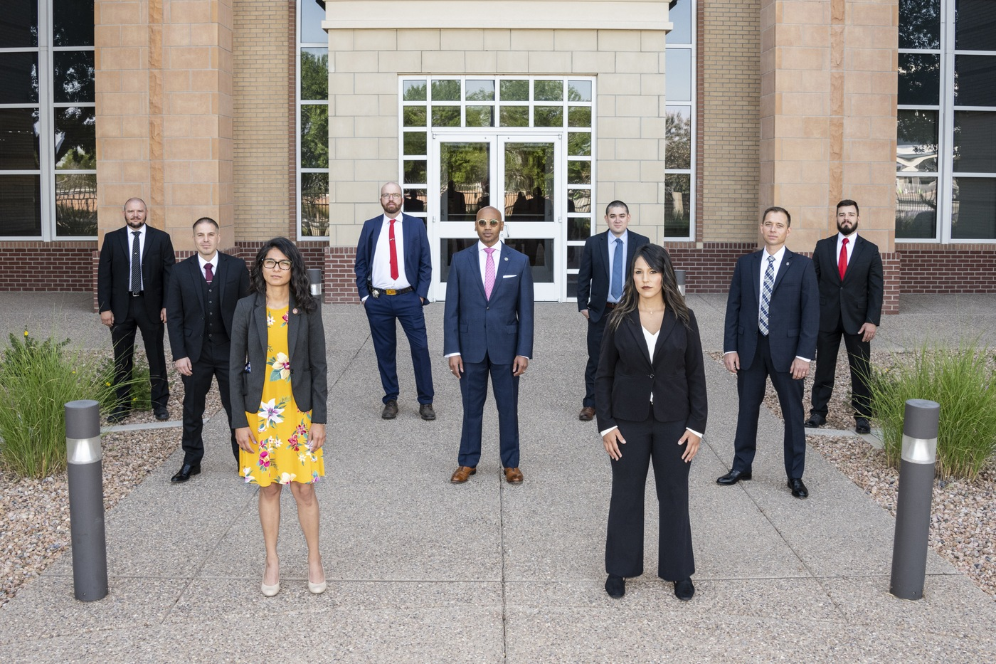 The FBI Child Exploitation and Human Trafficking Task Force welcomed six new task force officers representing the Bernalillo County Sheriff's Office and the Second Judicial District Attorney's Office on Monday (6/15/2020). They join our team and are committed to protecting the American people and upholding the U.S. Constitution (and social distancing). Three FBI Special Agents who are on the Task Force joined them for this photo. Credit: FBI.