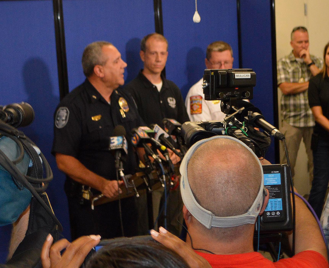 Gastonia Police Department Chief Robert Helton, left, and FBI Charlotte Special Agent Jason Kaplan brief the media.