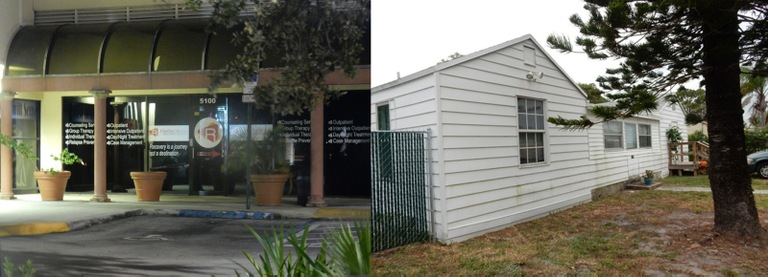 Image depicting a drug treatment center and a sober home owned by Kenneth Chatman in Florida.