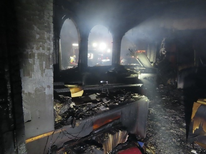 Damage in church administration building