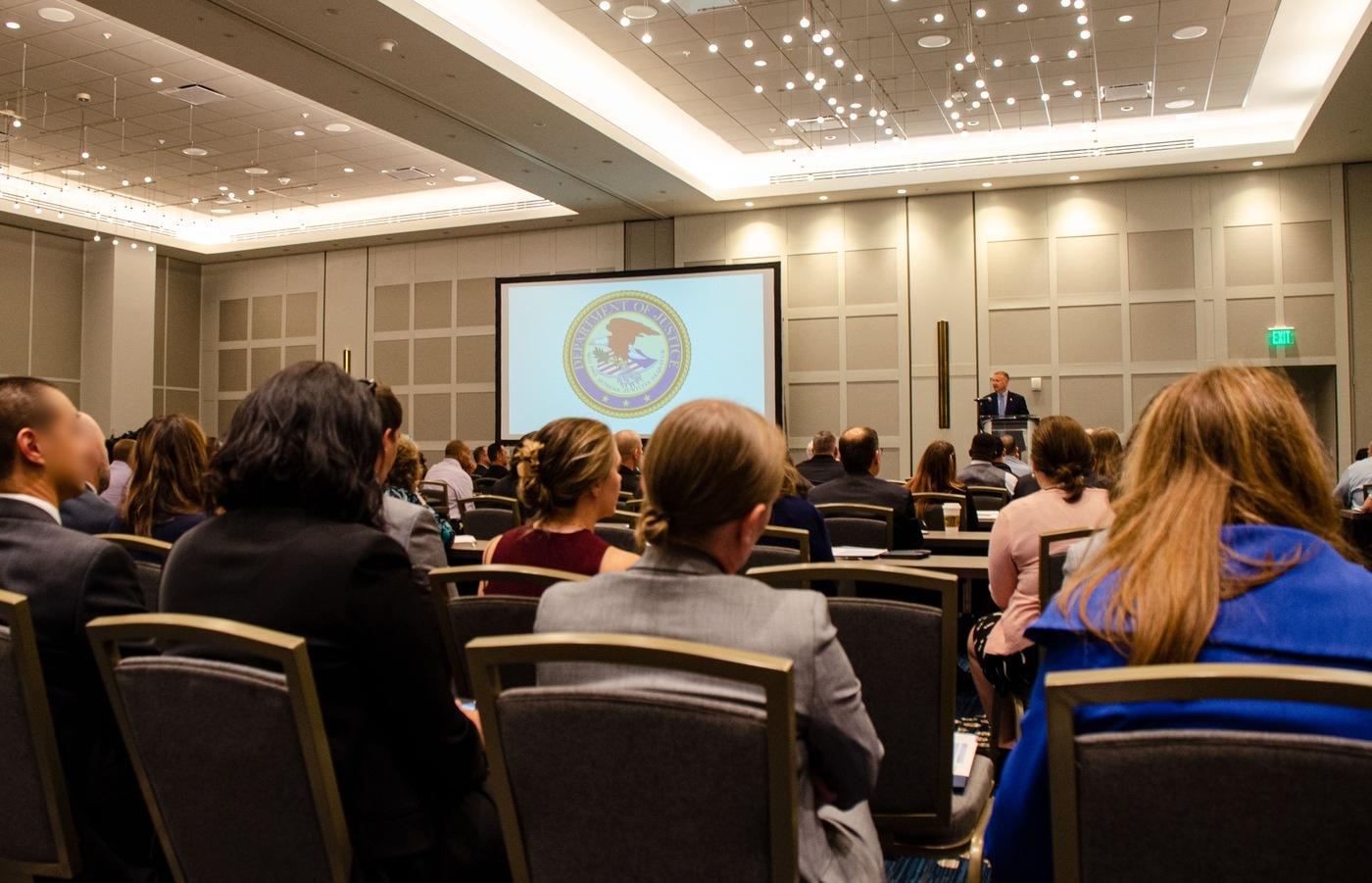 Associate Deputy Director Jeff Sallet speaks at a civil rights conference in Denver on June 9, 2021.