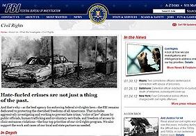 Former Civil Rights webpage on FBI.gov.
