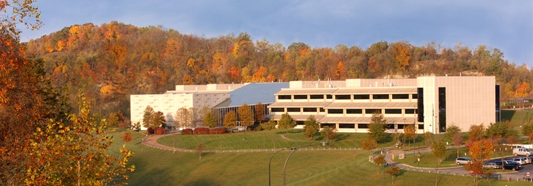 Exterior of the Criminal Justice Information Services Division building in the fall of 2005.