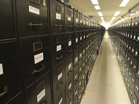 Millions of criminal history records once kept in filing cabinets at CJIS in West Virginia have been converted into electronic records. (From CJIS Link article)