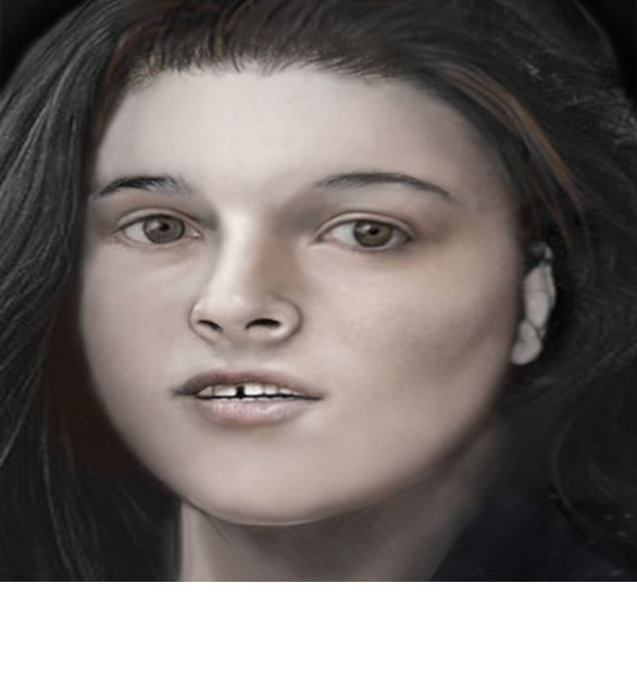 Photo composite that has been reconstructed based on her remains