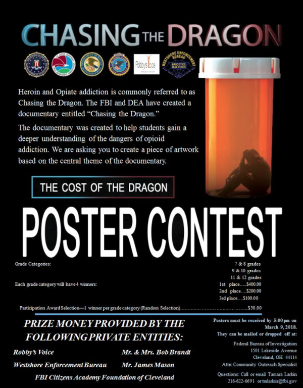 Cleveland Chasing the Dragon Poster Contest