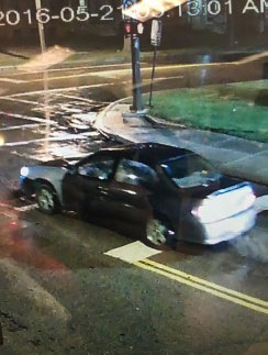 A 2002-2003 Chevy Malibu with a mismatched-colored front driver's-side fender used by an unknown child predator believed to be responsible for abducting a 6-year-old from inside her home in Cleveland on May 21, 2016 at approximately 3:30 a.m.