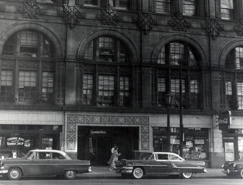 The Cleveland Division building on Ontario Avenue in the late 1950s or 1960s.