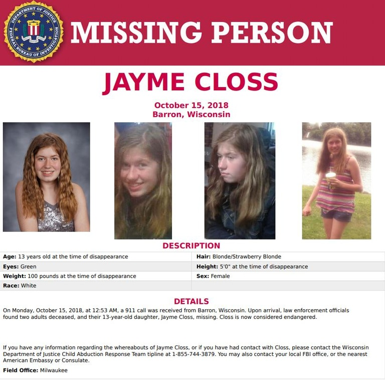 Jayme Closs. Missing girl.