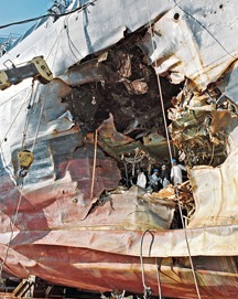 Investigators at USS Cole Bombing