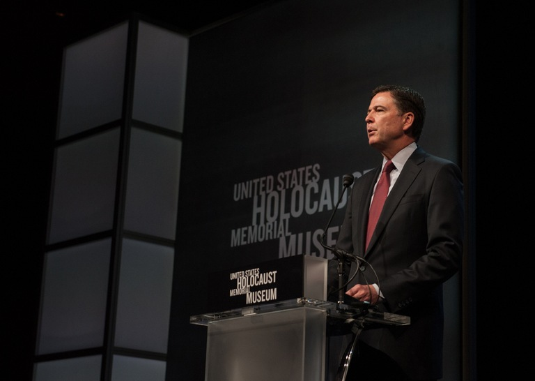 Director Comey speaks at Holocaust Museum event.