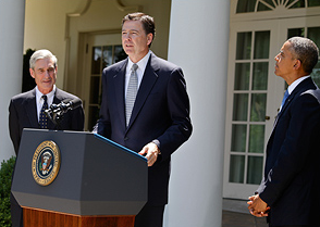 Director Comey speaks at White House on June 21, 2013 following his nomination as FBI Director by President Obama.