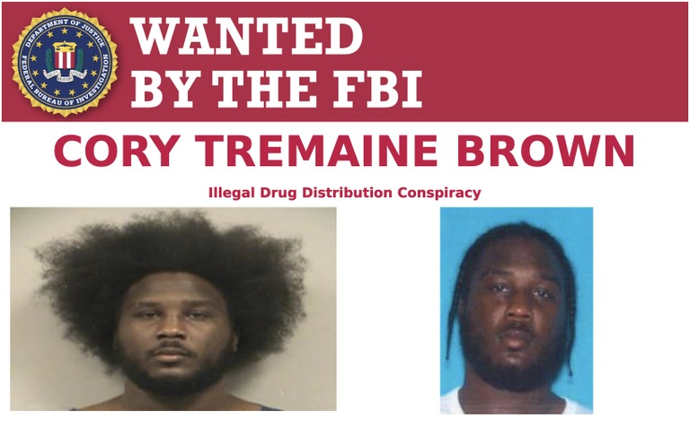 Cory Brown is wanted for his alleged involvement with a drug-trafficking conspiracy in Kansas City, Missouri, from January 1, 2011, to October 1, 2019.