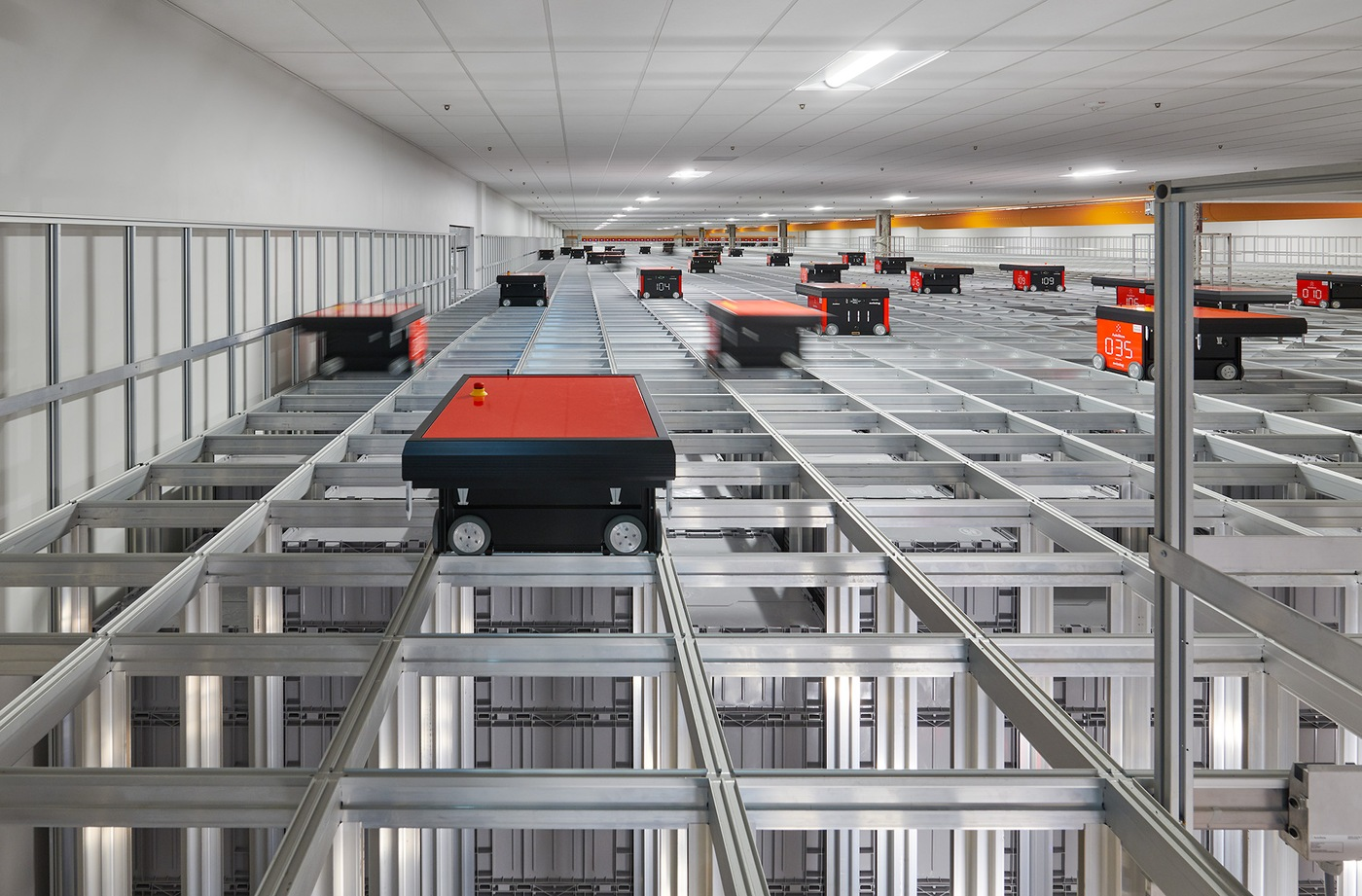 Robots deposit and retrieve files at Central Records Complex in Winchester, Virginia. The $135 million complex opened in 2020  to house FBI files.