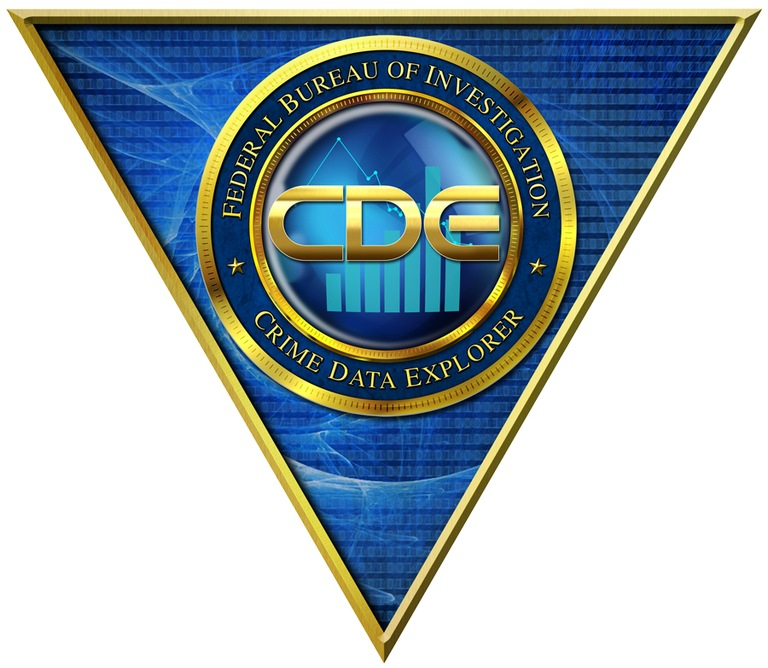 Logo for the FBI Uniform Crime Reporting (UCR) Program's Crime Data Explorer (CDE) tool.