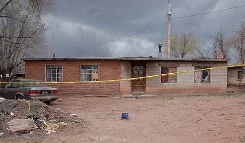 Crime Scene Tape at Zuni House