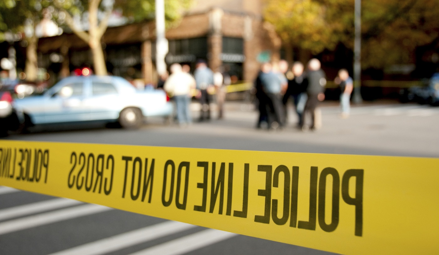Police Tape at Crime Scene (Stock Image)