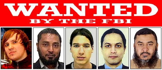 Five fugitives added to the FBI's Cyber Most Wanted List