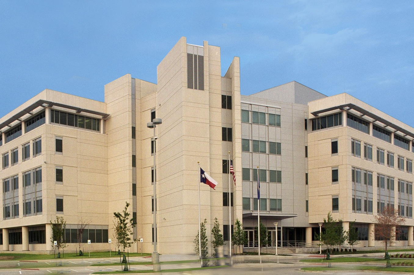 The J. Gordon Shanklin Building, One Justice Way, home of the Dallas Office of the FBI beginning in November 2002.