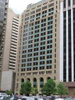 The Santa Fe Building, 1114 Commerce located adjacent to the Earl Cabell Federal Building. The 12th floor was headquarters for FBI Dallas from June 1953 to April 1964.