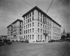 United States Post Office & Courthouse. The fourth floor was home for the Dallas FBI during the early 1930s. Looking northwest from Bryan Street and St. Paul.