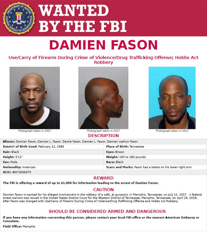 Damien Fason Wanted Poster