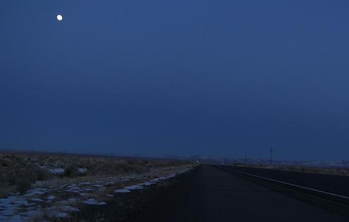 Dark Road in New Mexico