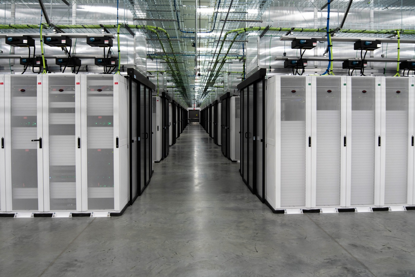 A data hall at the FBI's facility in Pocatello, Idaho, where a ribbon-cutting ceremony for its new data center was held November 18, 2019.