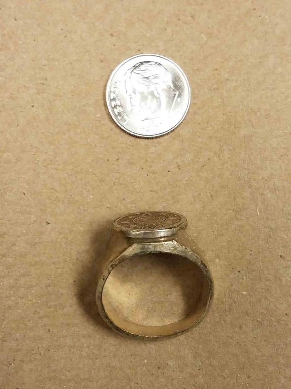 D.C.-Area Hotel Rapistas Ring (Top View with Dime)