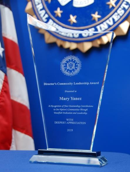 DCLA Recipient Mary Aguilar Yañez Award