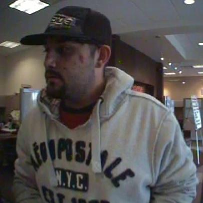 Thornton Bank Robbery Suspect (5/1/14)