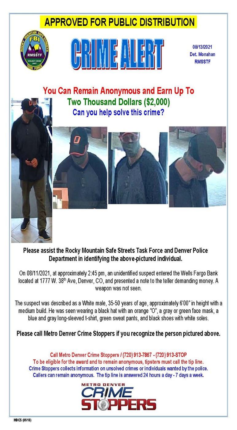 Denver Wells Fargo Bank Robbery