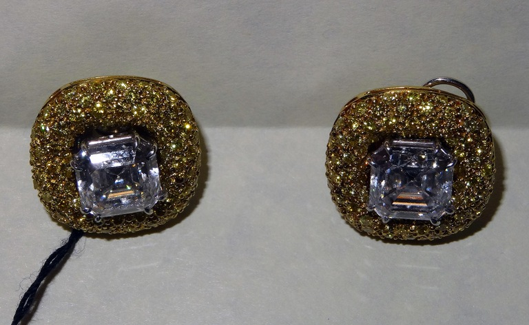 This pair of 2.5 carat platinum asscher cut diamond stud earrings and yellow gold jackets worth $75,000 were among the items falsely reported stolen in 2004 by Joseph Harold Gandy, who went to prison for his crime following an investigation by the FBI and its partners.