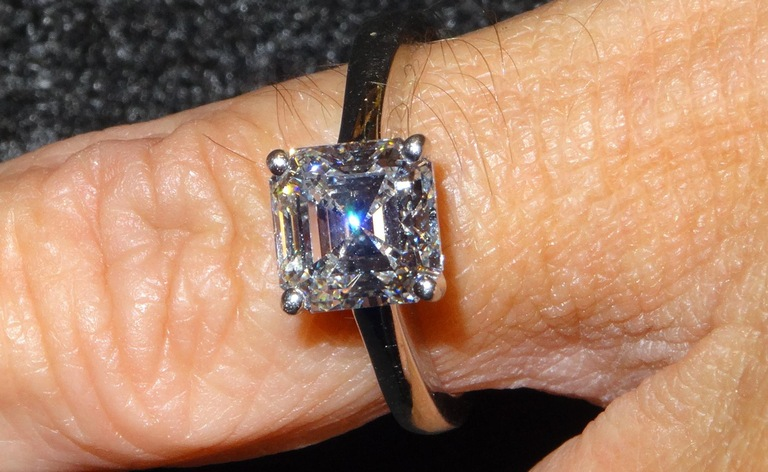 This platinum 2.39 carat solitaire diamond ring worth $36,500 was one the items falsely reported stolen in 2004 by Joseph Harold Gandy, who went to prison for his crime following an investigation by the FBI and its partners.