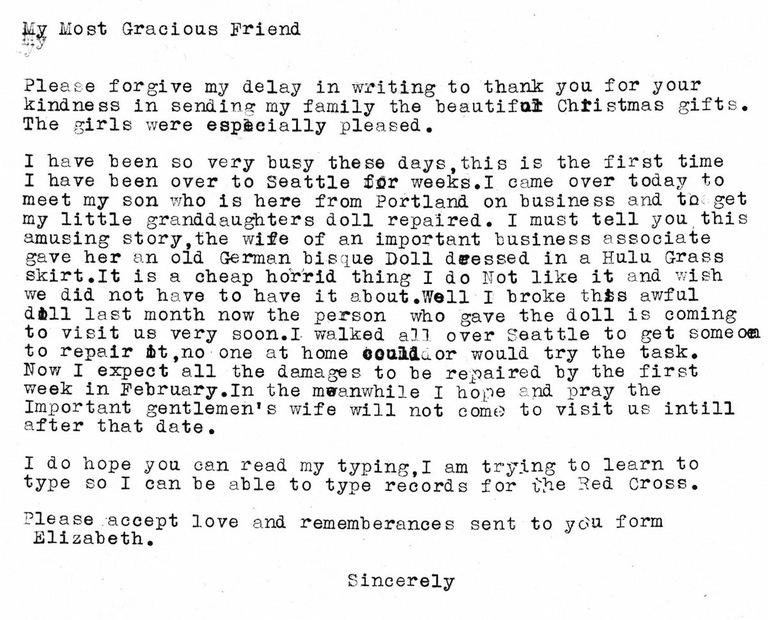 Velvalee Dickinson Letter