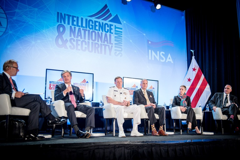 FBI Director Christopher Wray was among the panelists speaking at the Intelligence & National Security Summit on September 7, 2017, in Washington, D.C.