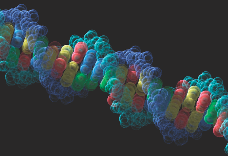 DNA Strand on Black Background