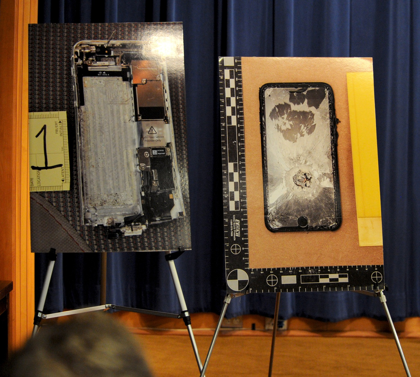 Images of the Pensacola shooter's phone were on display during a January 13, 2020, press conference at DOJ Headquarters in Washington, D.C.