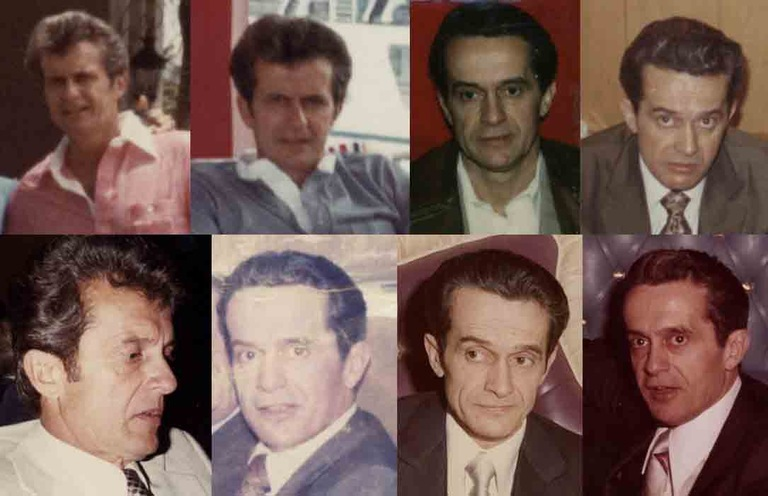 Collage of eight newly released photographs of fugitive Donald Eugene Webb.