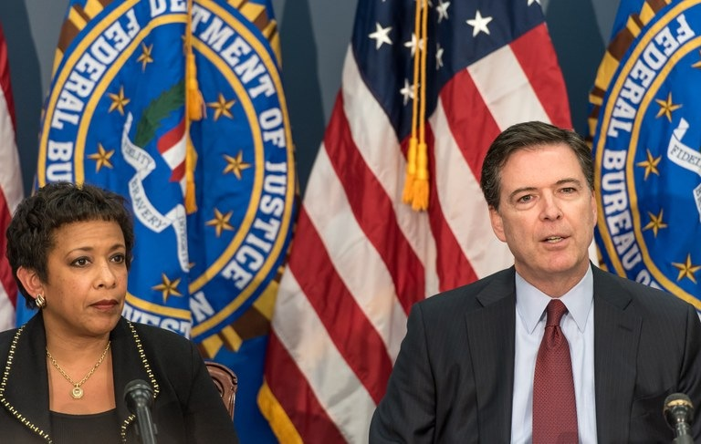 Director Comey and Attorney General Lynch Speak During a Press Availability about the Mass Shooting in San Bernardino, CA