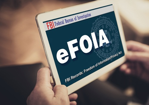 eFOIA Homepage on Tablet Computer